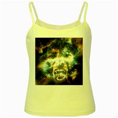 Universe Vampire Star Outer Space Yellow Spaghetti Tank