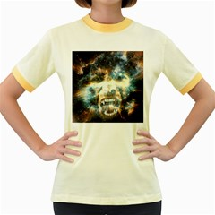 Universe Vampire Star Outer Space Women s Fitted Ringer T Shirts