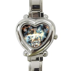 Universe Vampire Star Outer Space Heart Italian Charm Watch