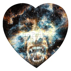 Universe Vampire Star Outer Space Jigsaw Puzzle (heart)