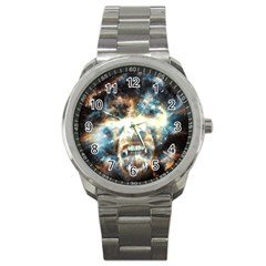 Universe Vampire Star Outer Space Sport Metal Watch