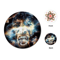 Universe Vampire Star Outer Space Playing Cards (round)