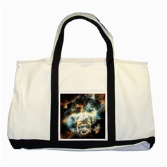 Universe Vampire Star Outer Space Two Tone Tote Bag