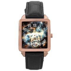 Universe Vampire Star Outer Space Rose Gold Leather Watch