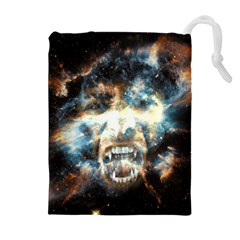 Universe Vampire Star Outer Space Drawstring Pouches (extra Large)