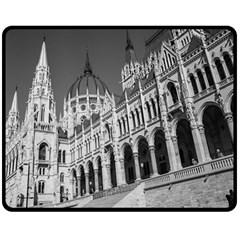 Architecture Parliament Landmark Fleece Blanket (medium)