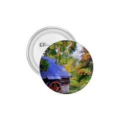 Landscape Blue Shed Scenery Wood 1 75  Buttons