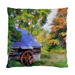 Landscape Blue Shed Scenery Wood Standard Cushion Case (two Sides)