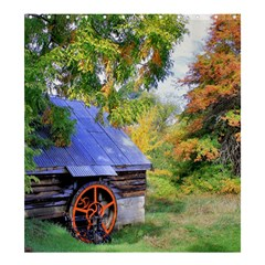 Landscape Blue Shed Scenery Wood Shower Curtain 66  X 72  (large)