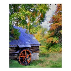Landscape Blue Shed Scenery Wood Shower Curtain 60  X 72  (medium)