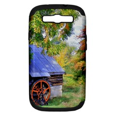 Landscape Blue Shed Scenery Wood Samsung Galaxy S Iii Hardshell Case (pc+silicone)