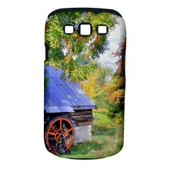 Landscape Blue Shed Scenery Wood Samsung Galaxy S Iii Classic Hardshell Case (pc+silicone)
