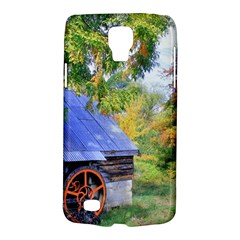 Landscape Blue Shed Scenery Wood Galaxy S4 Active