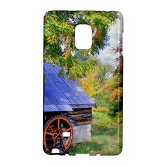 Landscape Blue Shed Scenery Wood Galaxy Note Edge