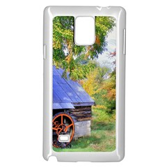 Landscape Blue Shed Scenery Wood Samsung Galaxy Note 4 Case (white)