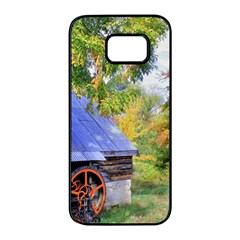 Landscape Blue Shed Scenery Wood Samsung Galaxy S7 Edge Black Seamless Case