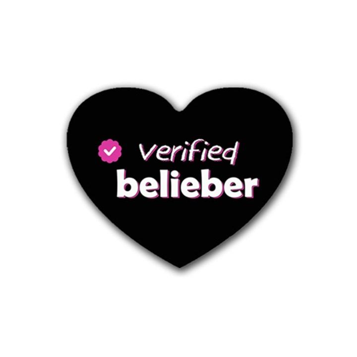 Verified Belieber Heart Coaster (4 pack)