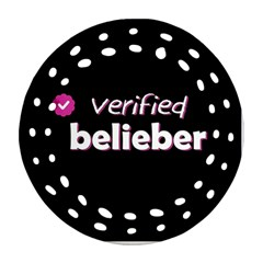 Verified Belieber Round Filigree Ornament (two Sides)