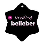Verified Belieber Snowflake Ornament (Two Sides) Back