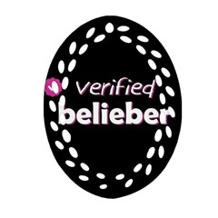 Verified Belieber Oval Filigree Ornament (two Sides)
