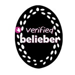 Verified Belieber Oval Filigree Ornament (Two Sides) Front