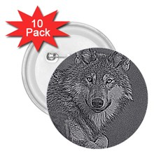 Wolf Forest Animals 2 25  Buttons (10 Pack)