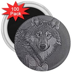 Wolf Forest Animals 3  Magnets (100 Pack)