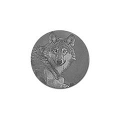 Wolf Forest Animals Golf Ball Marker