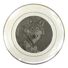 Wolf Forest Animals Porcelain Plates