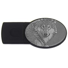 Wolf Forest Animals Usb Flash Drive Oval (4 Gb)