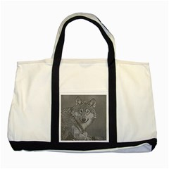 Wolf Forest Animals Two Tone Tote Bag
