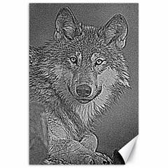 Wolf Forest Animals Canvas 20  X 30