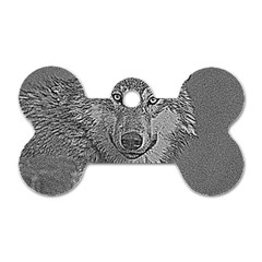 Wolf Forest Animals Dog Tag Bone (two Sides)