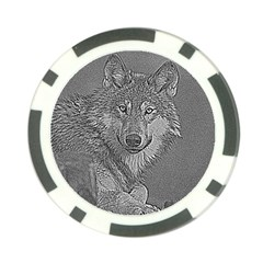 Wolf Forest Animals Poker Chip Card Guard