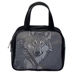 Wolf Forest Animals Classic Handbags (one Side)
