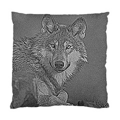 Wolf Forest Animals Standard Cushion Case (two Sides)