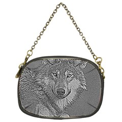 Wolf Forest Animals Chain Purses (two Sides)