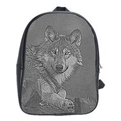 Wolf Forest Animals School Bag (large)