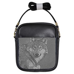 Wolf Forest Animals Girls Sling Bags