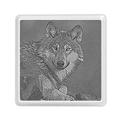 Wolf Forest Animals Memory Card Reader (square)