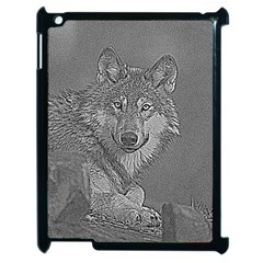 Wolf Forest Animals Apple Ipad 2 Case (black)