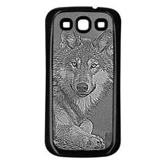 Wolf Forest Animals Samsung Galaxy S3 Back Case (black)