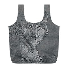 Wolf Forest Animals Full Print Recycle Bags (l)