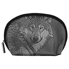 Wolf Forest Animals Accessory Pouches (large)