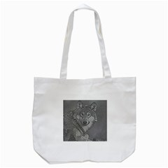 Wolf Forest Animals Tote Bag (white)