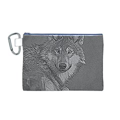 Wolf Forest Animals Canvas Cosmetic Bag (m)