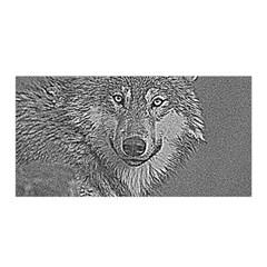 Wolf Forest Animals Satin Wrap