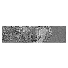Wolf Forest Animals Satin Scarf (oblong)