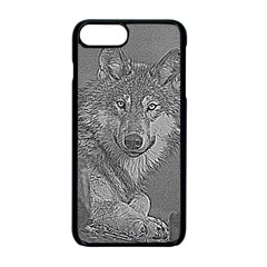 Wolf Forest Animals Apple Iphone 7 Plus Seamless Case (black)