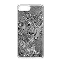 Wolf Forest Animals Apple Iphone 8 Plus Seamless Case (white)